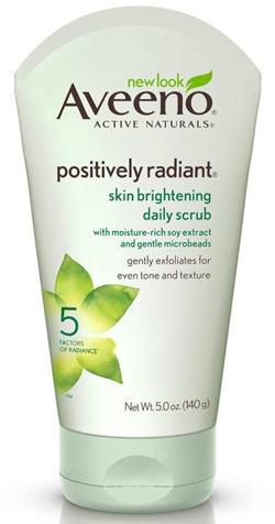 Aveeno Positively Radiant Skin Brightening Exfoliating Daily Facial Scrub | 40plusstyle.com