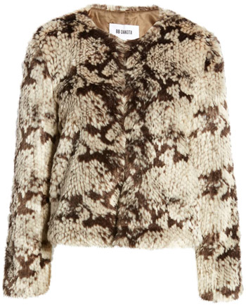 BB Dakota faux fur jacket | 40plusstyle.com