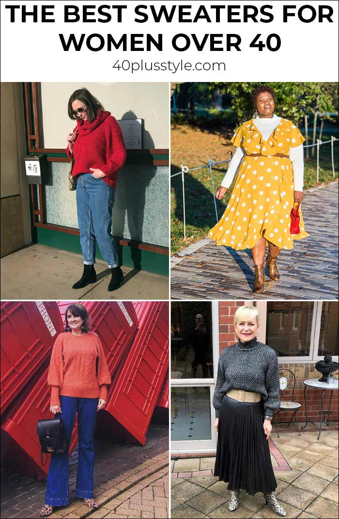 best sweaters for women over 40 - and 13 ways to wear them | 40plusstyle.com