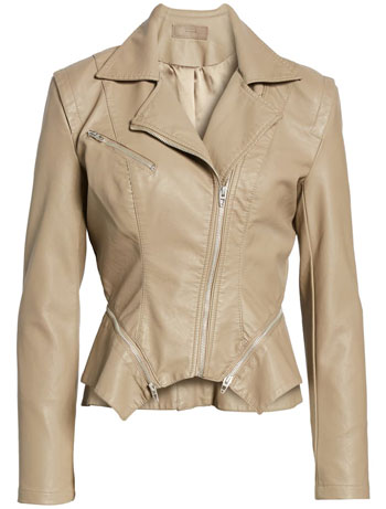 Blank NYC faux leather moto jacket | 40plusstyle.com