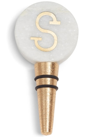 Nordstrom at Home monogram marble bottle stopper | 40plusstyle.com