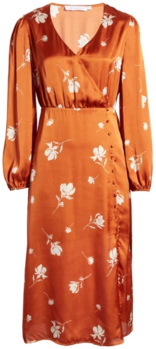 All In Favor satin midi dress | 40plusstyle.com