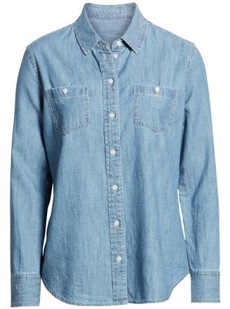 1901 classic chambray shirt | 40plusstyle.com