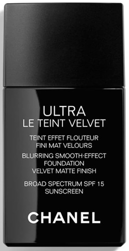 Best foundation for mature skin - CHANEL Ultra Le Teint Velvet Blurring Smooth-Effect Foundation SPF 15   40plusstyle.com
