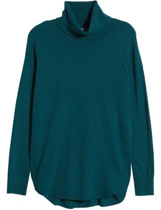 Chelsea28 turtleneck sweater | 40plusstyle.com
