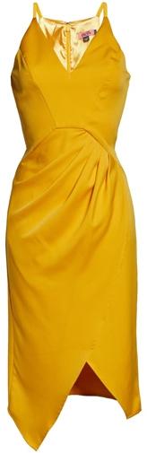Chi Chi London asymmetrical dress | 40plusstyle.com