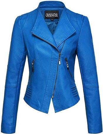 Chouyatou leather biker jacket | 40plusstyle.com