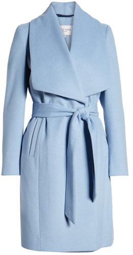 Cole Haan Signature wool blend wrap coat | 40plusstyle.com