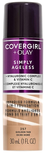 Covergirl & Olay Simply Ageless 3-in-1 Liquid Foundation   40plusstyle.com