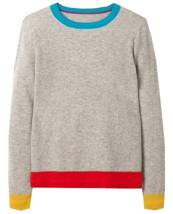 Boden crew neck cashmere sweater | 40plusstyle.com