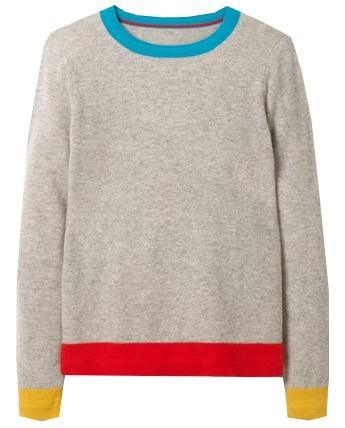 Boden crew neck cashmere sweater | 40plusstyle.com