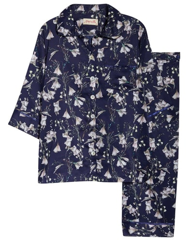 best pajamas for women: Papinelle flower crop pajamas | 40plusstyle.com