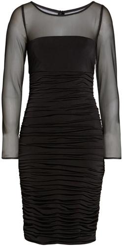 Eliza J mesh cocktail dress | 40pusstyle.com
