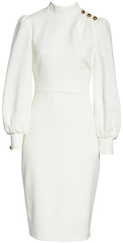 Eliza J button shoulder dress   40pusstyle.com