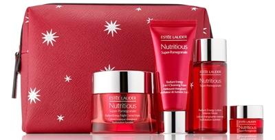 Estée Lauder Nutritious Super-Pomegranate Night Detox & Glow set   40plusstyle.com