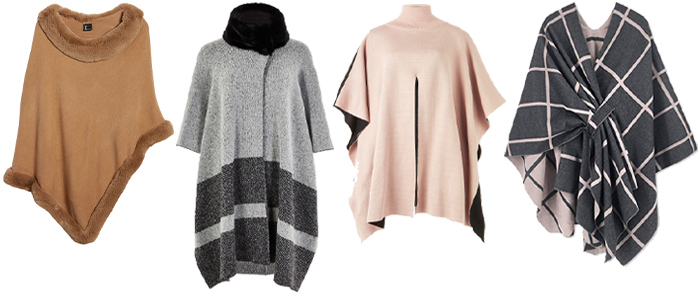 How to look fashionable in winter: Stylish capes and sweaters | 40plusstyle.com