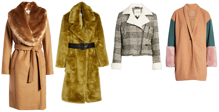Winter outfits for women: warm faux fur coats and scarves | 40plusstyle.com