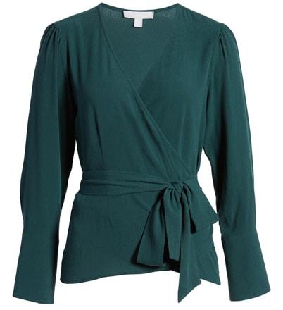 Chelsea28 wrap blouse | 40plusstyle.com