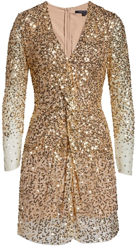 French Connection sequin sheath dress   40pusstyle.com