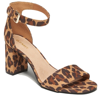 leopard print sandals for women over 40 | 40plusstyle.com