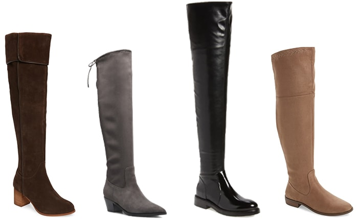 Winter outfits for women: over the knee winter boots | 40plusstyle.com