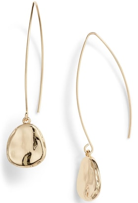 Halogen organic drop earrings | 40plusstyle.com