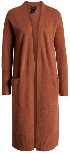 Halogen wool  cashmere long cardigan | 40plusstyle.com