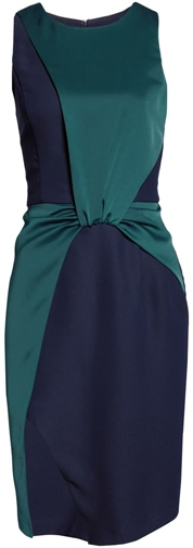 Harlyn colorblock drape cocktail dress | 40pusstyle.com