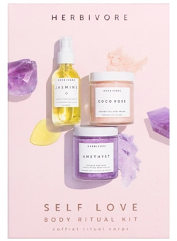 Herbivore Botanicals Self Love Body Ritual kit | 40plusstyle.com