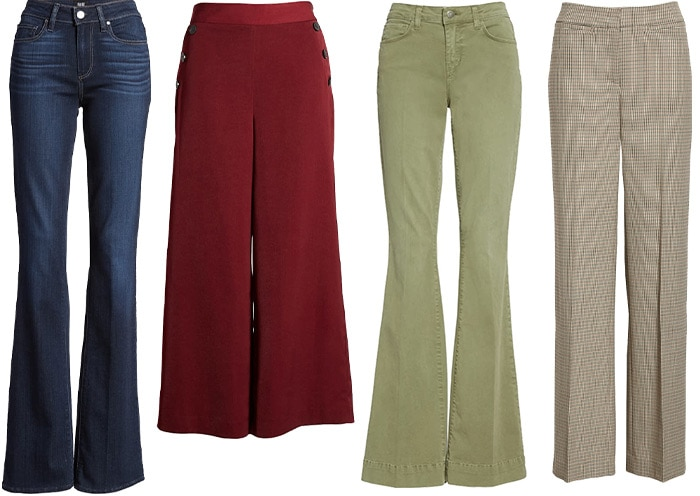Pants and jeans for the inverted triangle shape | 40lusstyle.com