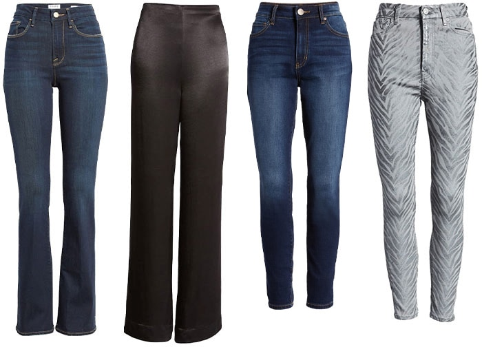 pants and jeans to wear with leather jackets | 40plusstyle.com