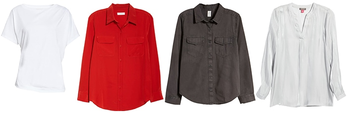 tops to wear with leather jackets | 40plusstyle.com