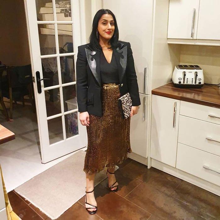 Wear sumptuous fabrics like metallics | 40plusstyle.com