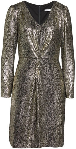 Julia Jordan metallic snakeskin dress   40pusstyle.com