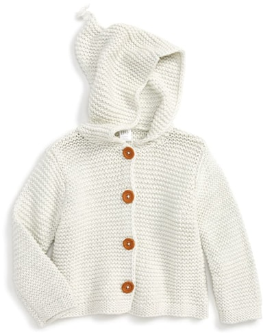 Nordstrom Baby organic cotton hooded cardigan | 40plusstyle.com