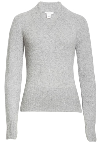 Lewit v-neck wool & cashmere blend sweater   40plusstyle.com