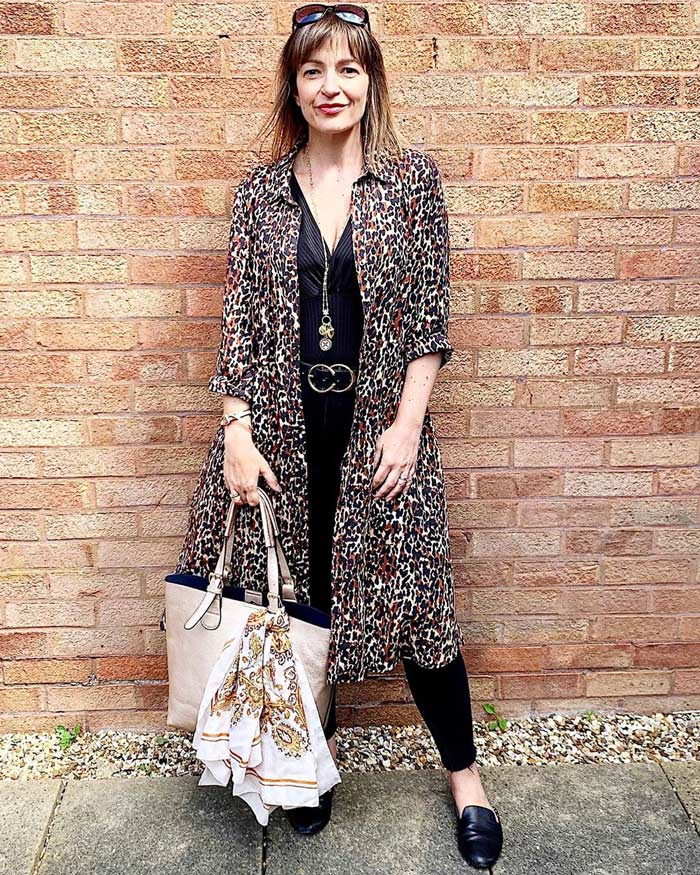 Lizzi Richardson of Loved by Lizzi in leopard print