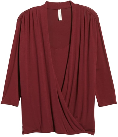 Loveappella cross drape top | 40plusstyle.com