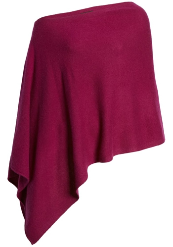 Halogen wool & cashmere poncho | 40plusstyle.com