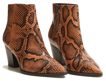 reptile print boots for women | 40plusstyle.com