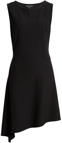 Ming Wang asymmetrical dress | 40plusstyle.com