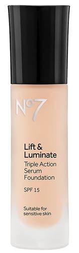 No7 Lift & Luminate Triple Action Serum Foundation   40plusstyle.com