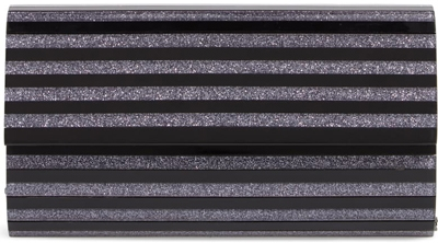 Nordstrom glitter stripe clutch | 40plusstyle.com