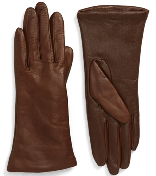 Nordstrom cashmere lined leather gloves | 40plusstyle.com