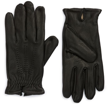 Nordstrom Mens Shop leather gloves | 40plusstyle.com