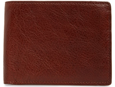 Christmas gift ideas for men: Nordstrom Men's Shop leather wallet  | 40plusstyle.com