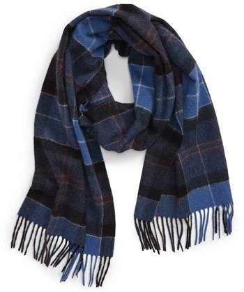 Nordstrom Mens Shop plaid cashmere scarf | 40plusstyle.com