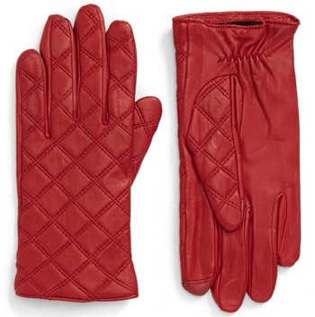 Nordstrom quilted leather tech gloves | 40plusstyle.com