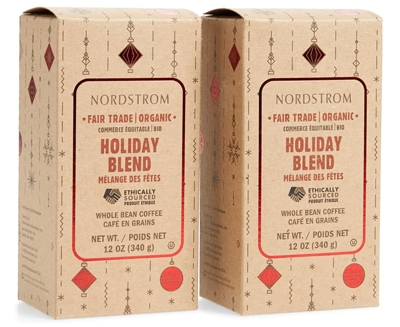 Nordstrom Holiday Blend organic whole blend coffee   40plusstyle.com