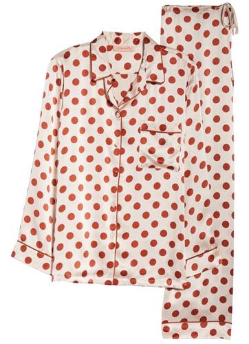 Papinelle x Karen Walker dot silk pajamas | 40plusstyle.com